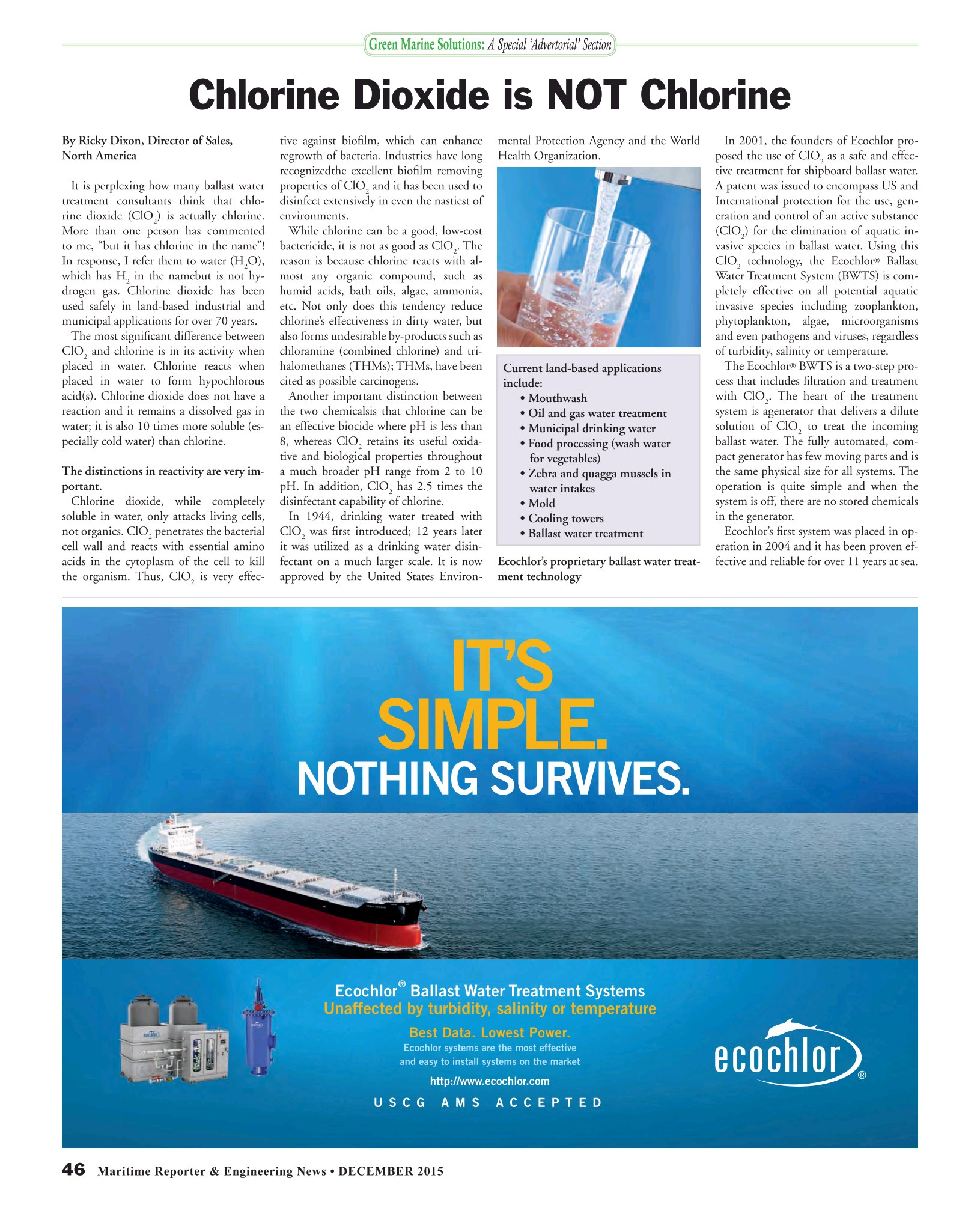 Maritime Reporter and Engineering news, December 2015 Issue