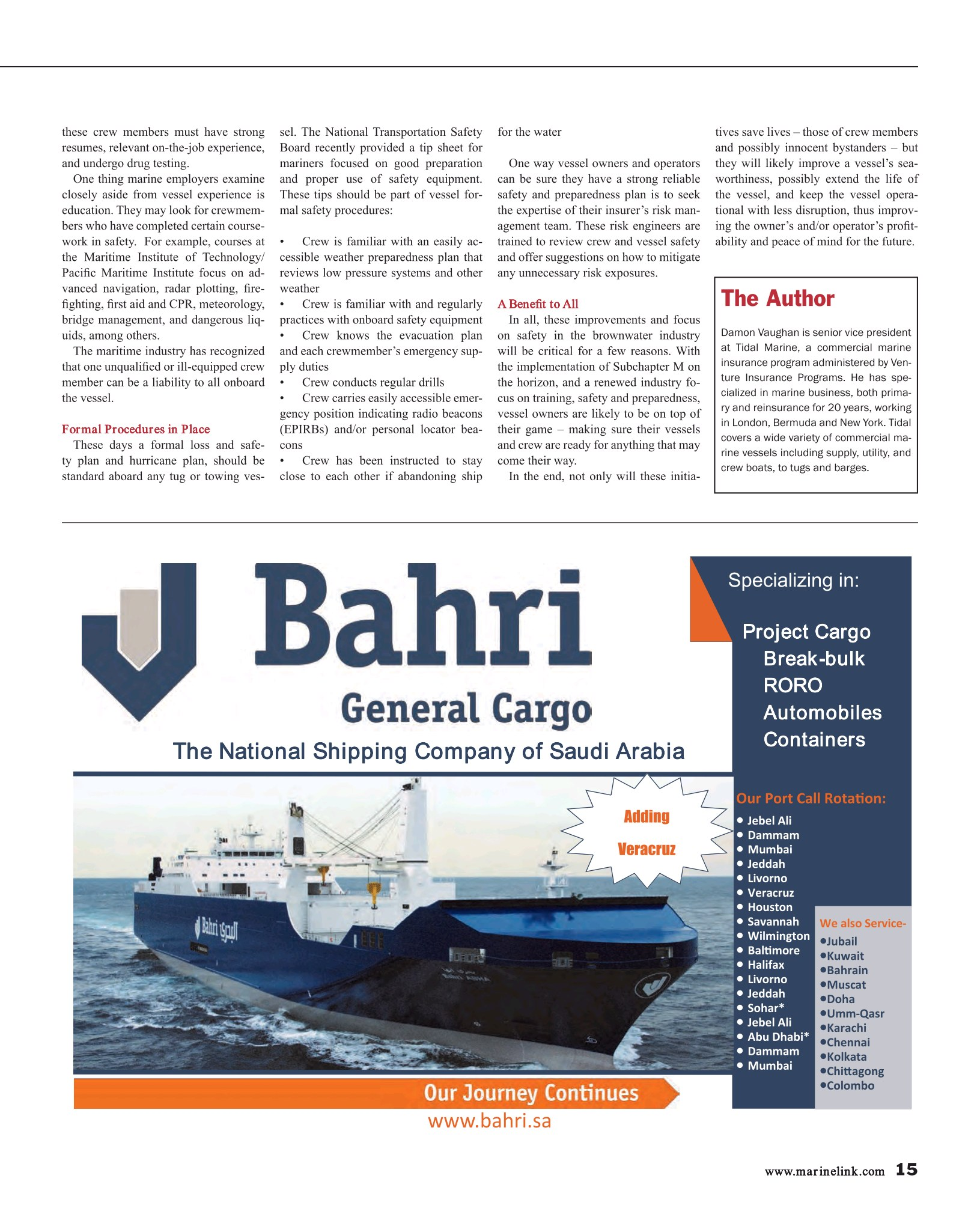 Maritime Reporter and Engineering news, July 2016 Issue
