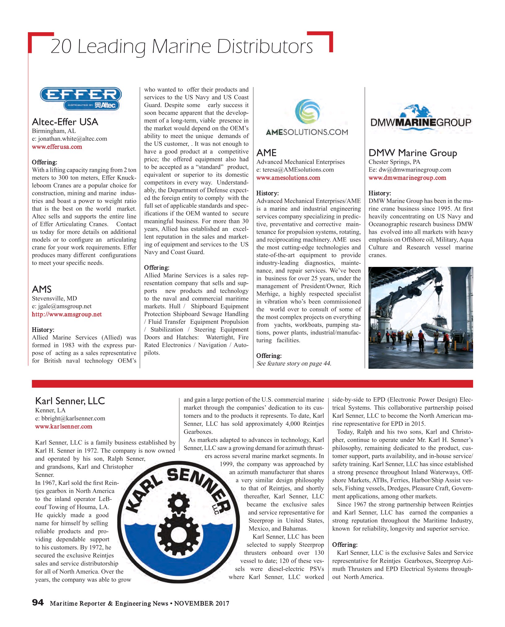 Maritime Reporter and Engineering news, November 2017 Issue